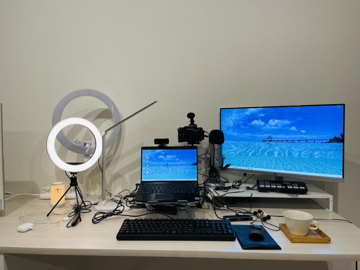 自宅リフォームによるデスク環境と動画配信画面のBEFORE・AFTER